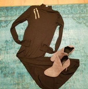Long Black Slinky Dress